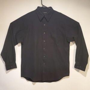 Cambridge Classics Men's Black Long Sleeve Shirt L